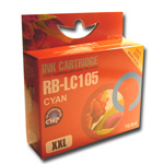 Compatible to replace Brother LC105C cyan