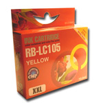 Compatible to replace Brother LC105Y yellow
