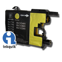 Brother LC75Y XL yellow compatible ink cartridge